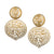 Satin Gold Filagree Drop Clip Earrings
