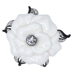 White Resin Flower Pin
