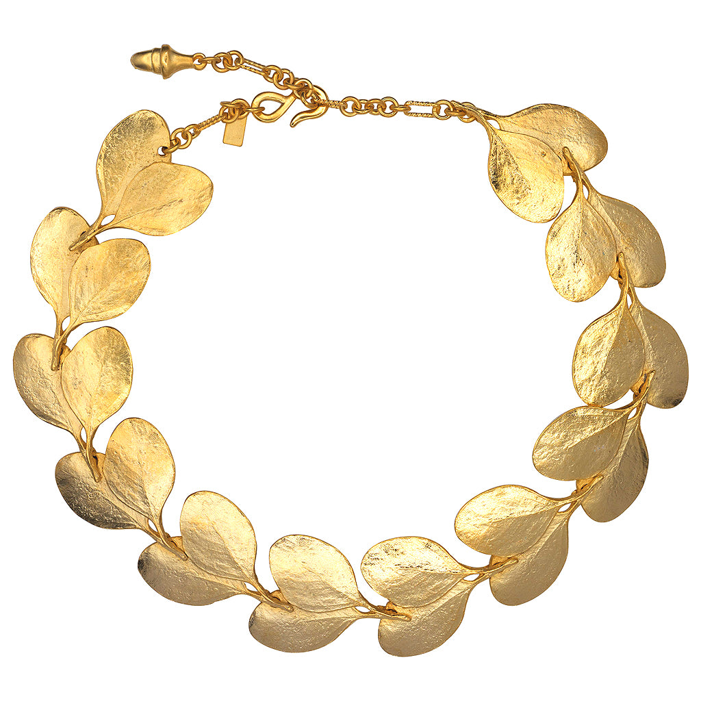 "20"" Satin Gold Branch and Leaf Necklace"