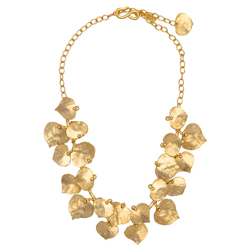 "18"" Satin Gold Leaf Necklace"