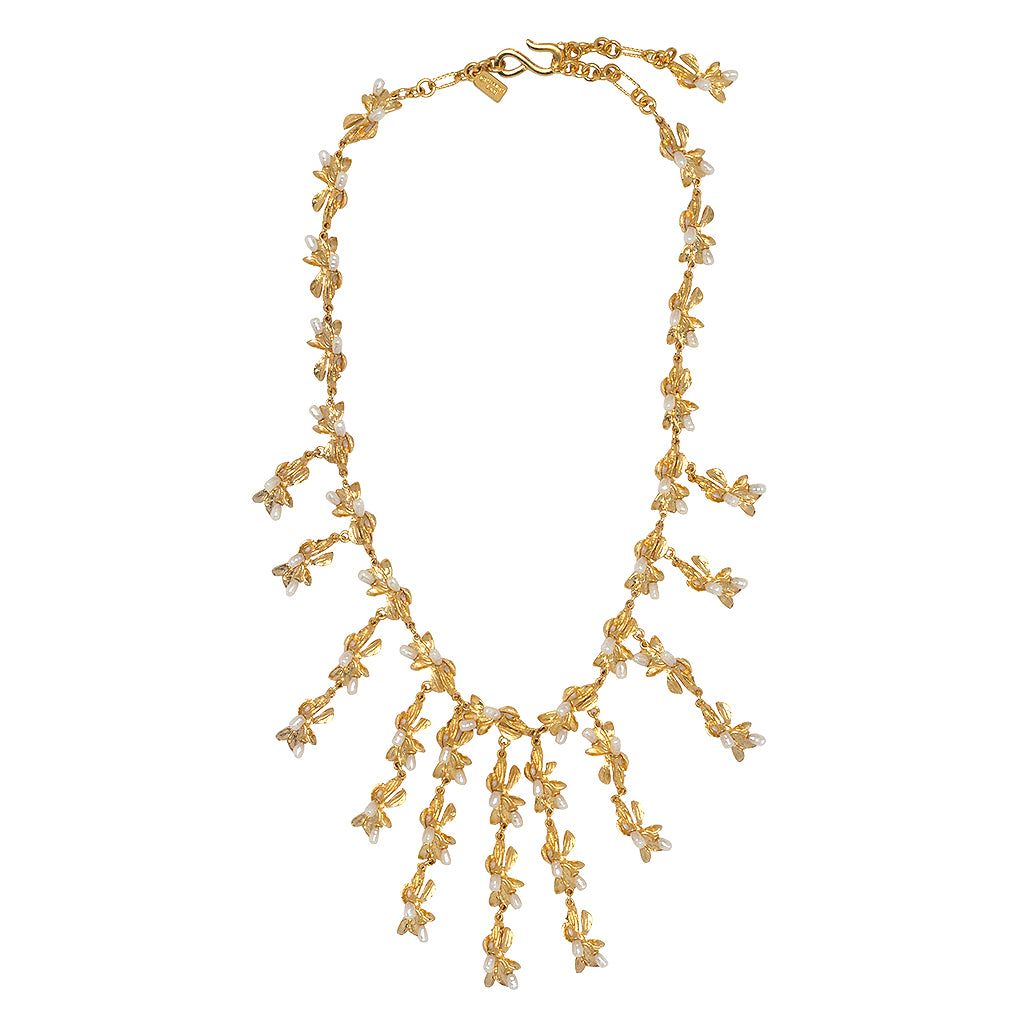 ab jewelry lyst bib in couture beaded natasha necklace blue