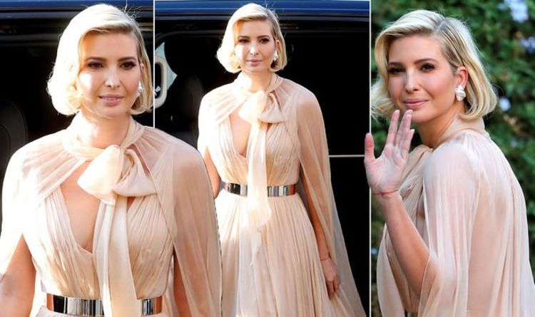 Ivanka Trump in Cultura Pearl Shell with Gold Dots Clip Earrings