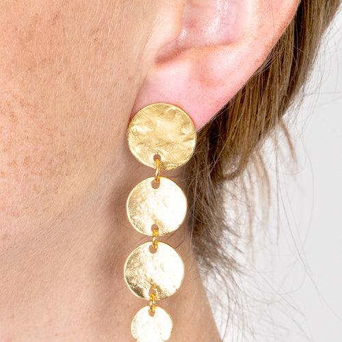 Coin Pierced Earrings