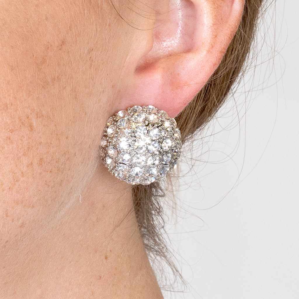 Disco Ball Clip Earrings