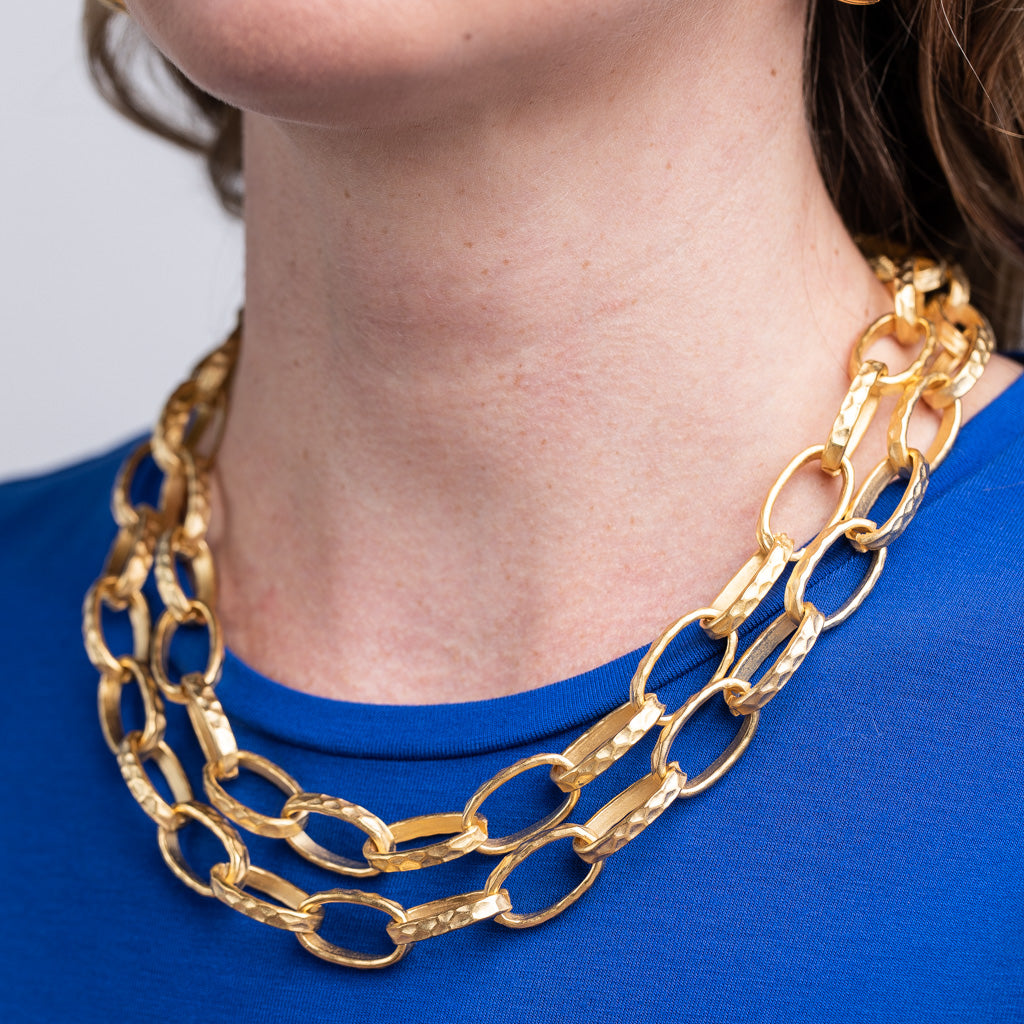 Satin Gold Small Link Necklace