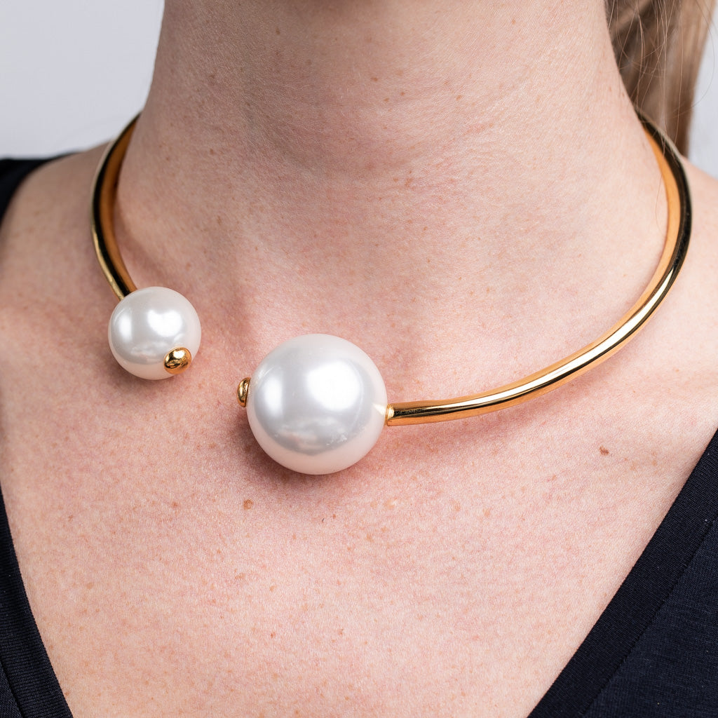 Gold Collar And Pearl Necklace
