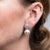 Pave And Pearl Clip Earrings