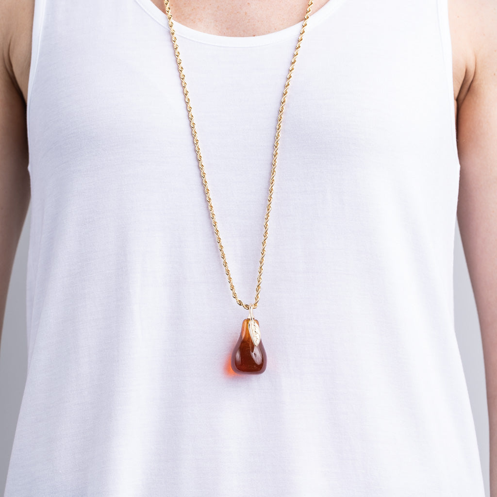 Tortoise Pear Necklace