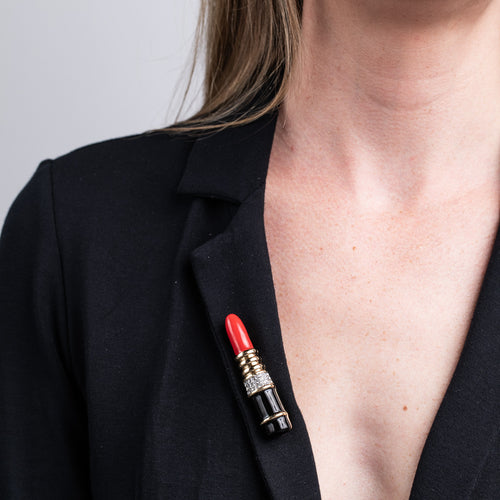 Red Lipstick Pin