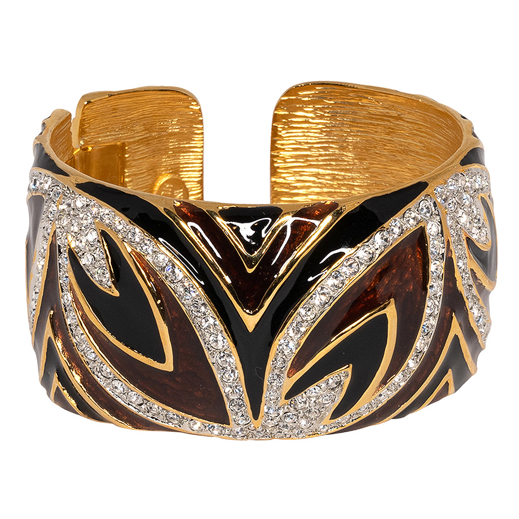 Kenneth Jay Lane White Two Toned Hinged Cuff White qsiudQ