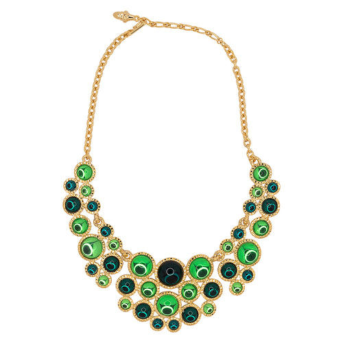 Flawed Emerald & Peridot Bib Necklace