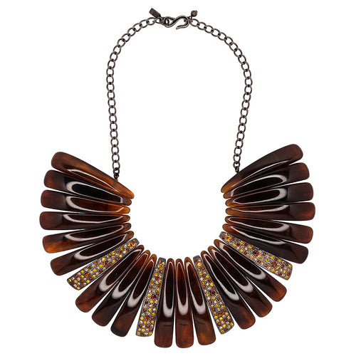 Multi Topaz Bib Necklace
