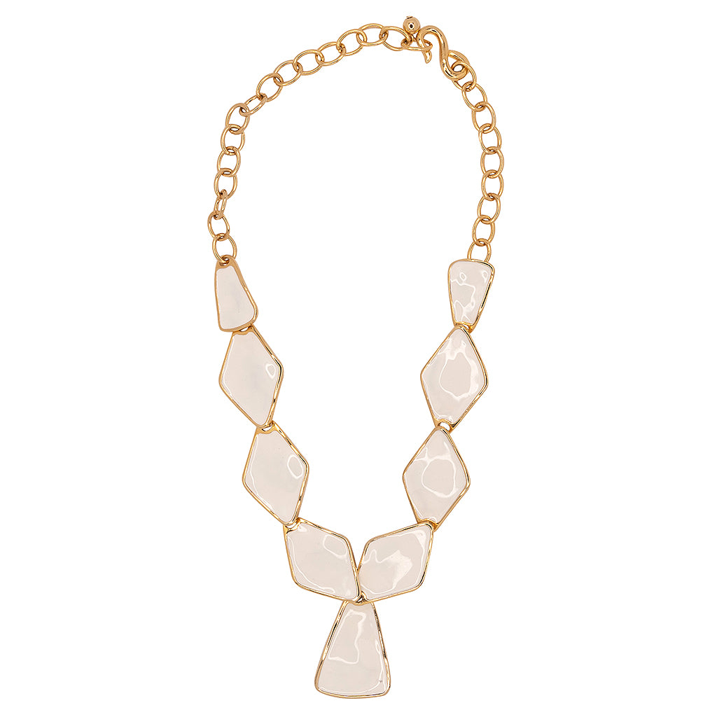 Kenneth Jay Lane Red Diamond And Triangle Drop Necklace Red KWS2nRJ
