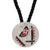 Red Enamel Deco Pendant Necklace