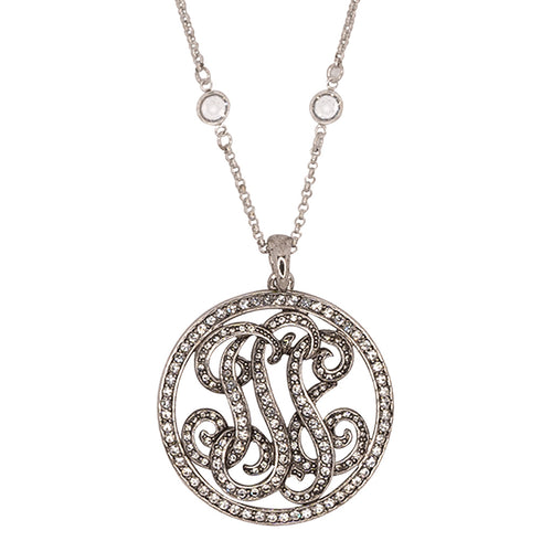Fancy Crystal Round Pendant Necklace