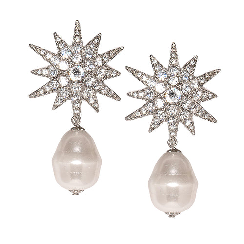 The Knot/FW2019 - Starburst And Baroque Pearl Pierced Earrings