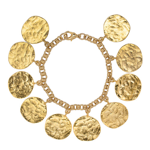 Modern Luxury/April 2019 - Gold Coin Charm Bracelet
