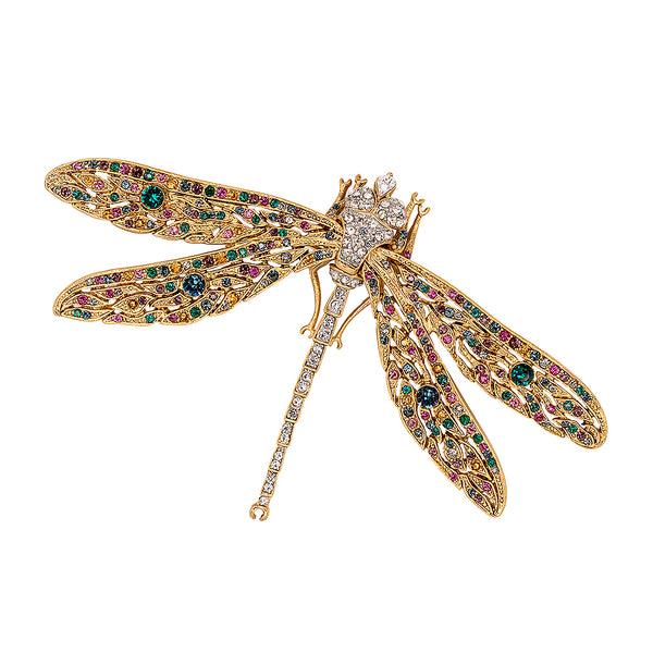 Antique Gold Dragonfly Pin