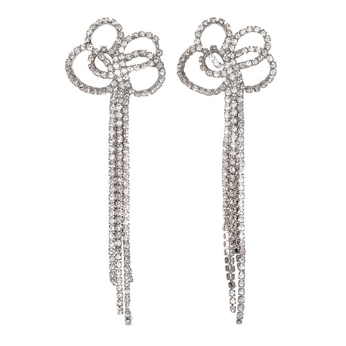 "4 1/2 "" Crystal Earrings"