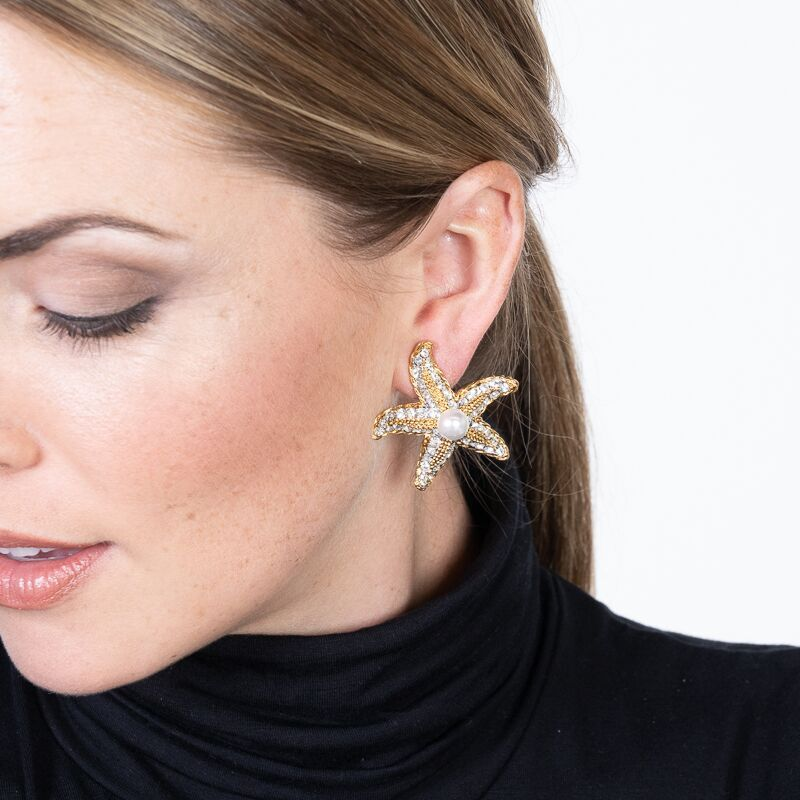 Starfish Clip Earrings