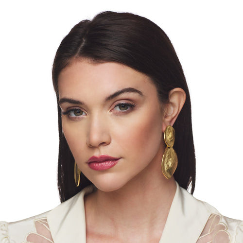 Satin Gold Drop Earring