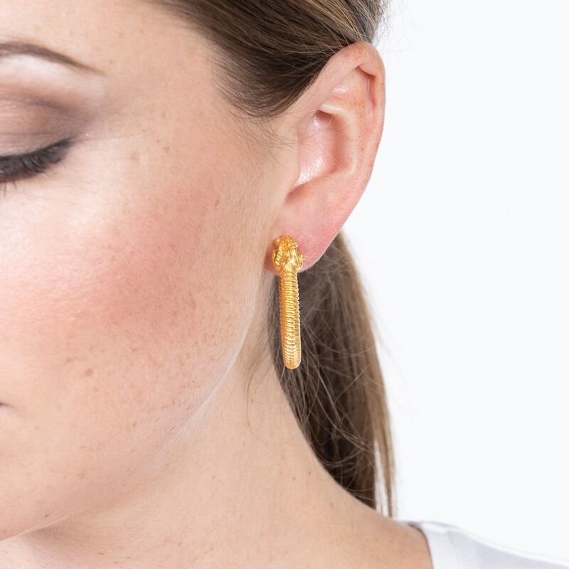 Ramhead Hoop Pierced Earrings
