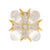 Clear Maltese Cross Pin