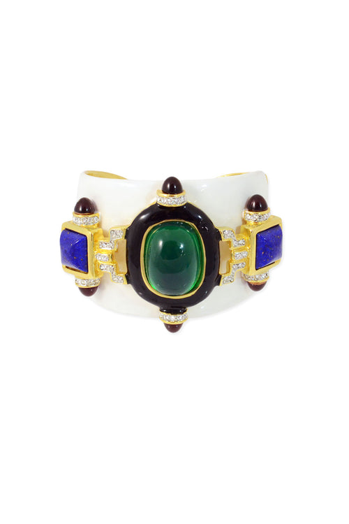 White And Emerald Cuff
