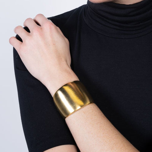 Thick Satin Gold Cuff