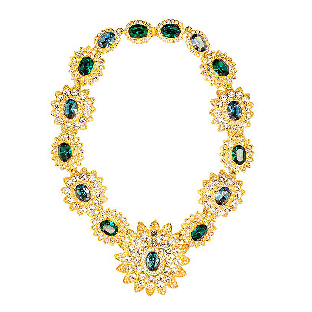Sapphire & Emerald Stones Centers Necklace