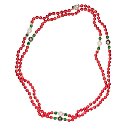 Ruby Stationed Necklace