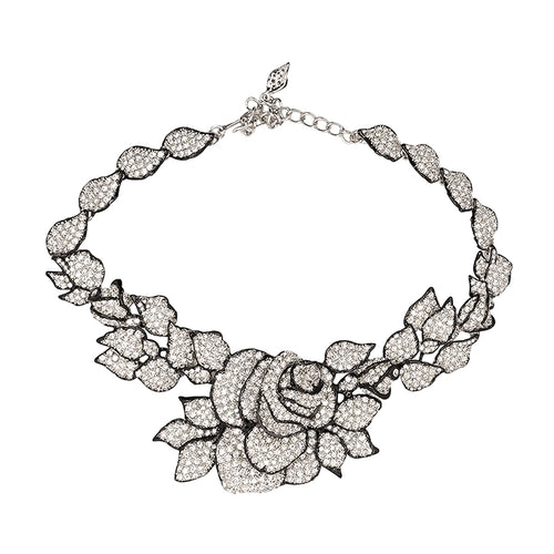 Pavé Rose Necklace
