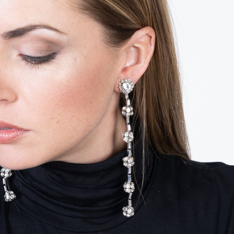 Five Fire Ball Clip Earrings