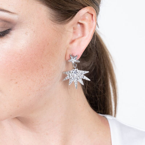 Crystal Star Pierced Earring Jackets