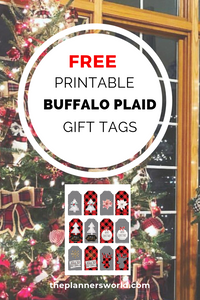 DIY Farmhouse Buffalo Plaid Gift Tags