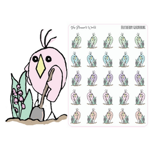 Featherbies Gardening Planner Stickers - The Planner's World