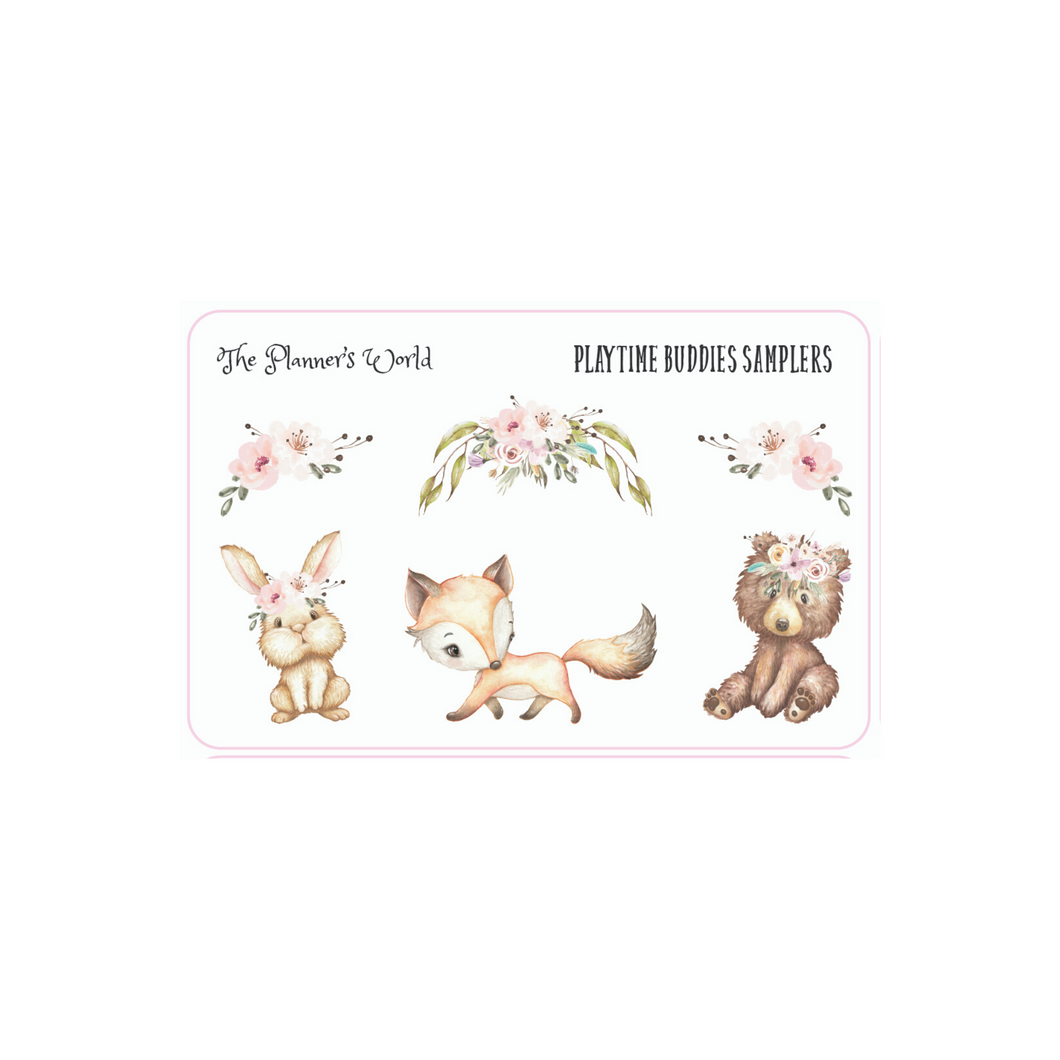 Playtime Buddies Sticker Sampler by The Planner's World - The Planner's World