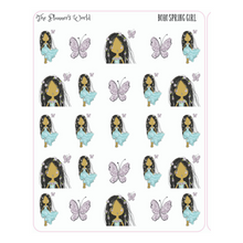 Boho Springtime Girl Planner Stickers - The Planner's World