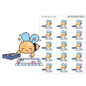 Busy Bee Puzzle Planner Stickers - The Planner's World