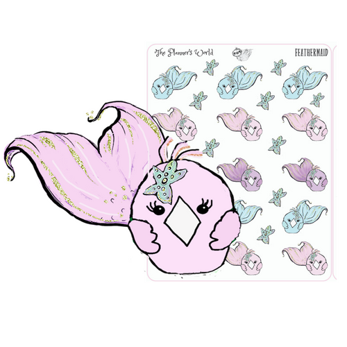 Featherbies Mermaid Planner Stickers - The Planner's World