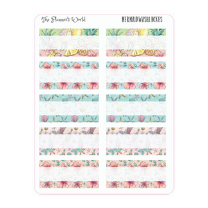 Mermaid Washi Memo Boxes Planner Stickers - The Planner's World