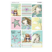 Be a Mermaid weekly vertical Sticker Kit - The Planner's World