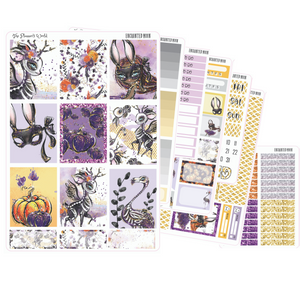 Enchanted Moon weekly vertical Sticker Kit - The Planner's World