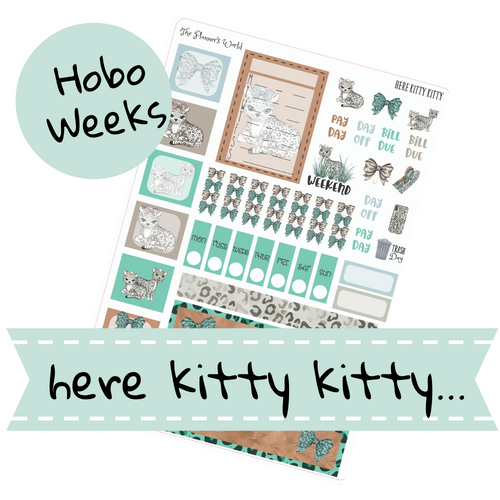 Here Kitty Kitty Hobonichi Weeks Kit - The Planner's World