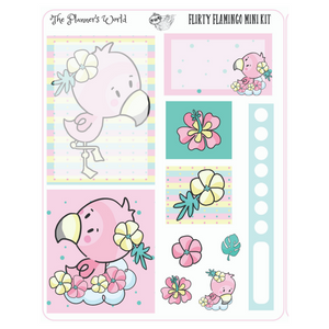 Flirty Flamingo Micro Kit Planner Stickers - The Planner's World