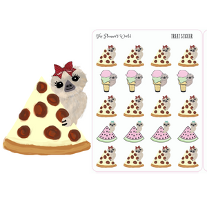 Sloths Love Treats Planner Stickers - The Planner's World