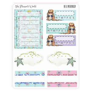 Be a Mermaid Micro Kit Planner Stickers - The Planner's World