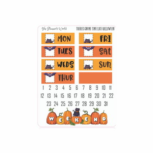 There's Gnome Better Day than Halloween  Deluxe Weekly Planner Stickers