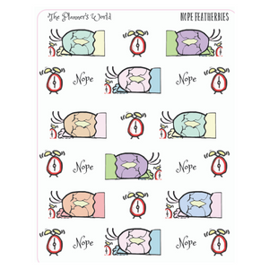 Nope Featherbies planner stickers - The Planner's World