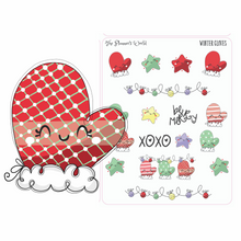 winter glove christmas planner stickers